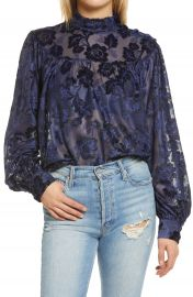 Endless Rose Floral Burnout Blouse   Nordstrom at Nordstrom