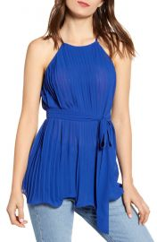 Endless Rose Pleated Halter Top at Nordstrom