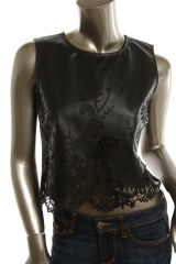 Endless rose leather embroidered top at eBay