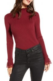English Factory Lace Trim Sweater at Nordstrom