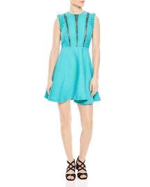 Enrika Lace-Inset Mini Dress at Bloomingdales