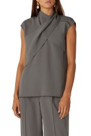 Ensor Draped Twill Top by Beaufille at Rent The Runway