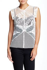 Entoure Sheer Lace Blouse at Nordstrom Rack