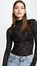 Enza Costa Lace Turtleneck with Back Zip at Shopbop