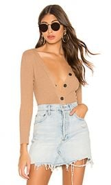 Enza Costa Military Rib Henley in Tan from Revolve com at Revolve