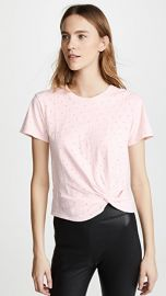 Enza Costa Side Knot Crew Tee at Shopbop