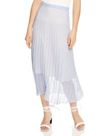 Eode Sheer-Detail Graphic Midi Skirt by Sandro at Bloomingdales