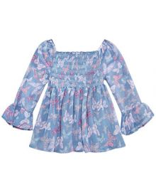 Epic Threads  Big Girls Smocked Butterfly-Print Top  Created for Macy s   Reviews - Shirts   Tees - Kids - Macy s at Macys