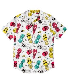 Epic Threads Big Boys Pineapple Skull Poplin Shirt at Macys