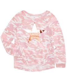 Epic Threads Big Girls Camo-Print Top  Created for Macy s   Reviews - Shirts   Tees - Kids - Macy s at Macys