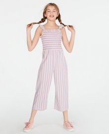 Epic Threads Big Girls Smocked Striped Jumpsuit  Created for Macy s   Reviews - Dresses - Kids - Macy s at Macys