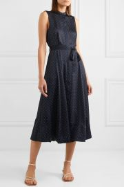 Equipment - Clevete polka-dot crepe midi dress at Net A Porter