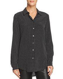 Equipment Essential Dotted Silk Shirt at Bloomingdales