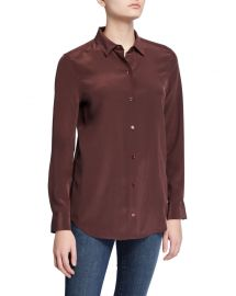 Equipment Essential Silk Button-Down Top at Neiman Marcus