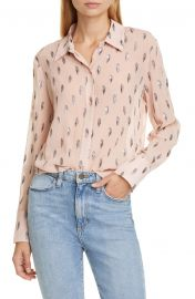 Equipment Sedienne Metallic Leaves Silk Blend Blouse   Nordstrom at Nordstrom