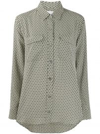 Equipment geometric print shirt geometric print shirt at Farfetch