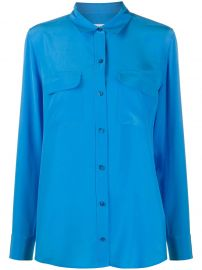 Equipment silk long sleeve shirt silk long sleeve shirt at Farfetch