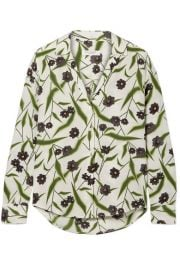 Equipment - Adalyn floral-print washed-silk shirt at Net A Porter