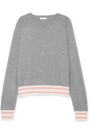 Equipment - Axel striped cotton-blend sweater at Net A Porter