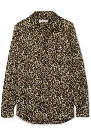 Equipment - Brett leopard-print satin shirt at Net A Porter