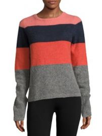 Equipment - Calais Striped Colorblock Pullover at Saks Off 5th