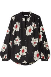 Equipment - Cornelia floral-print washed-silk shirt at Net A Porter