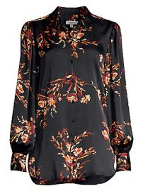 Equipment - Danton Floral Blouse at Saks Fifth Avenue