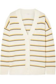 Equipment - Elder striped wool and cashmere-blend cardigan at Net A Porter