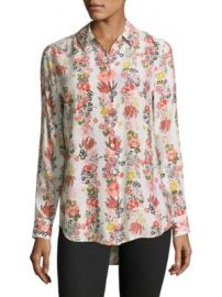 Equipment - Essential Floral Silk Blouse at Saks Fifth Avenue