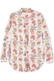 Equipment   Essential floral-print washed-silk shirt at Net A Porter