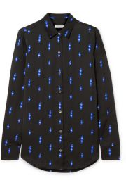 Equipment - Essential printed satin shirt at Net A Porter