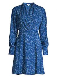 Equipment - Fanetta Speckled Dot Wrap Dress at Saks Fifth Avenue