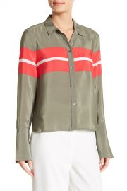 Equipment   Huntley Colorblock Stripe Silk Shirt   Nordstrom Rack at Nordstrom Rack