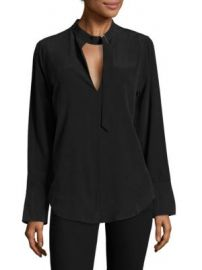Equipment - Janelle Buckle Silk Top at Saks Fifth Avenue
