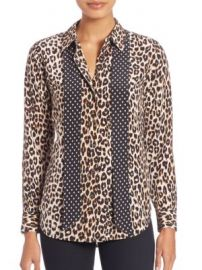 Equipment - Kate Moss For Equipment Leopard-Print Silk Blouse at Saks Off 5th