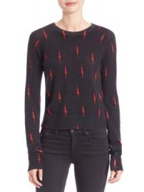 Equipment - Kate Moss for Equipment Ryder Lightning-Print Cashmere Sweater at Saks Off 5th