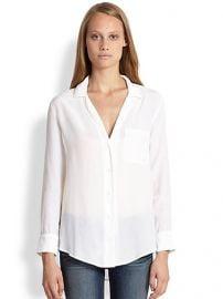 Equipment - Keira PJ Silk Shirt at Saks Fifth Avenue
