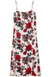 Equipment   Kelby floral-print washed-silk midi dress at Net A Porter