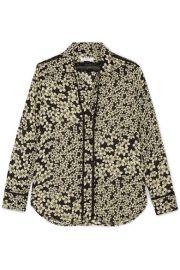 Equipment   Leema floral-print silk-georgette shirt at Net A Porter