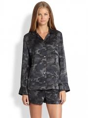 Equipment - Lillian Silk Camouflage-Print Pajama Set at Saks Fifth Avenue