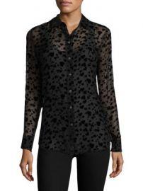 Equipment - Long Sleeve Velvet Heart Shirt at Saks Fifth Avenue