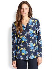 Equipment - Lynn Silk Floral-Print Shirt at Saks Fifth Avenue