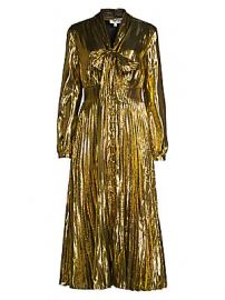 Equipment - Macin Metallic Midi Dress at Saks Fifth Avenue