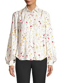 Equipment - Marcilly Floral Shirt at Saks Off 5th