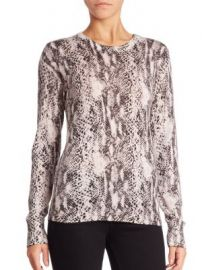 Equipment - Ondine Jungle Boa Printed Sweater at Saks Fifth Avenue