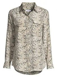 Equipment - Python Print Silk Blouse at Saks Fifth Avenue
