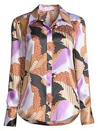 Equipment - Sedienne Graphic-Print Silk Shirt at Saks Fifth Avenue