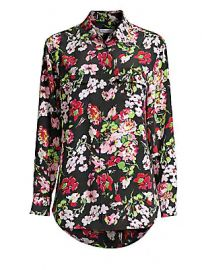 Equipment - Signature Floral-Print Silk Blouse at Saks Fifth Avenue