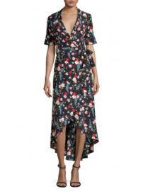 Equipment - Silk Imogene Floral Wrap Dress at Saks Fifth Avenue