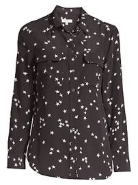 Equipment - Starry Night Slim Signature Silk Shirt at Saks Fifth Avenue